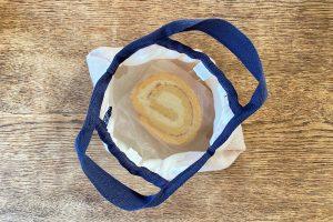 米粉ケーキをいれるガーゼのエコバッグ